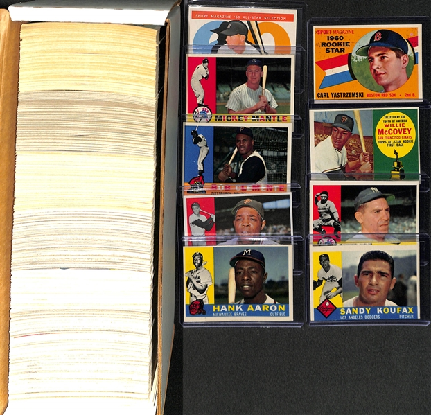1960 Topps Baseball Complete Set - Cards Appear Fresh From the Pack
