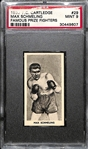 1938 F.C. Cartledge Max Schmeling Famous Prize Fighters Card PSA 9
