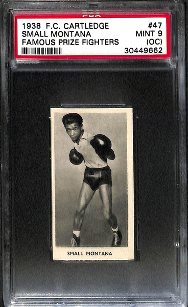 Lot Of 4 1938 F.C. Cartledge Famous Prize Fighter Cards PSA Graded