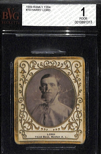 1909 Ramly Cigarettes T204 Harry Lord (Boston Red Sox Founding Member) - BVG 1.0
