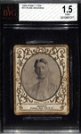 1909 Ramly Cigarettes T204 Rube Manning (New York Yankees) - BVG 1.5