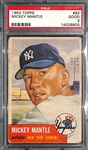 1953 Topps #82 Mickey Mantle PSA 2