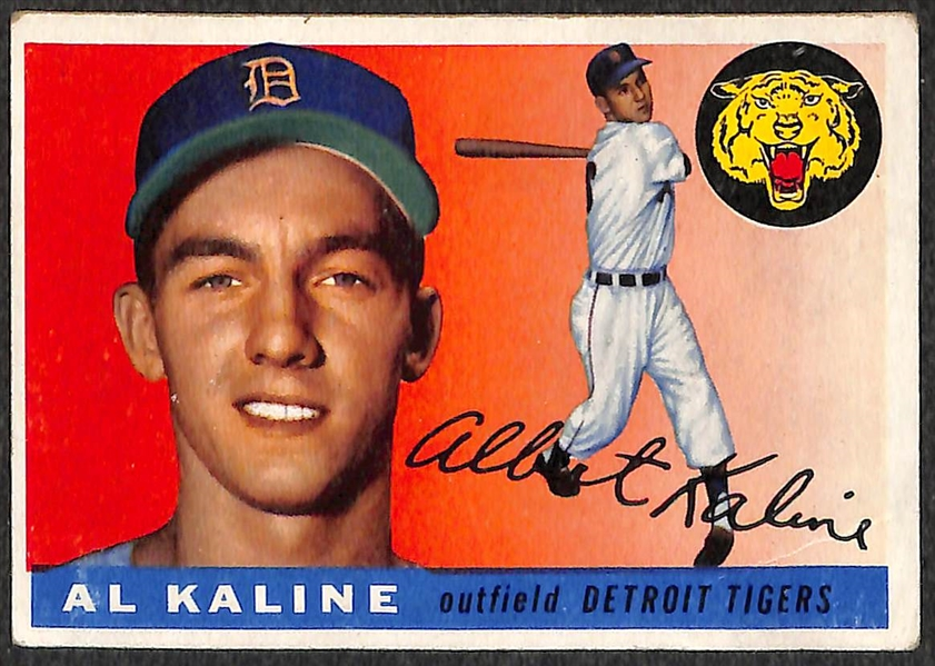 Lot of 2 - 1955 Topps Baseball Al Kaline (2nd Year Card)