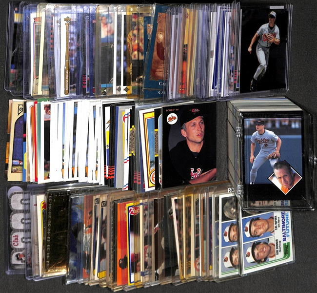 Lot of Over (200) Cal Ripken Cards From 1982 to Present - Includes (5) Rookies