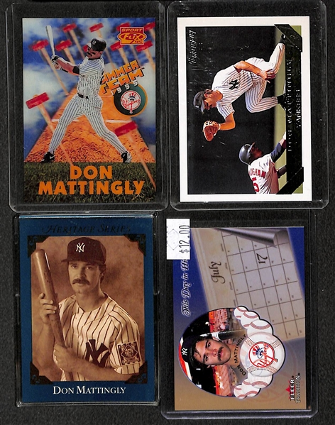 Lot of Over (115) Don Mattingly Cards w/ 6 Rookies (Including a 1984 Donruss Rookie)
