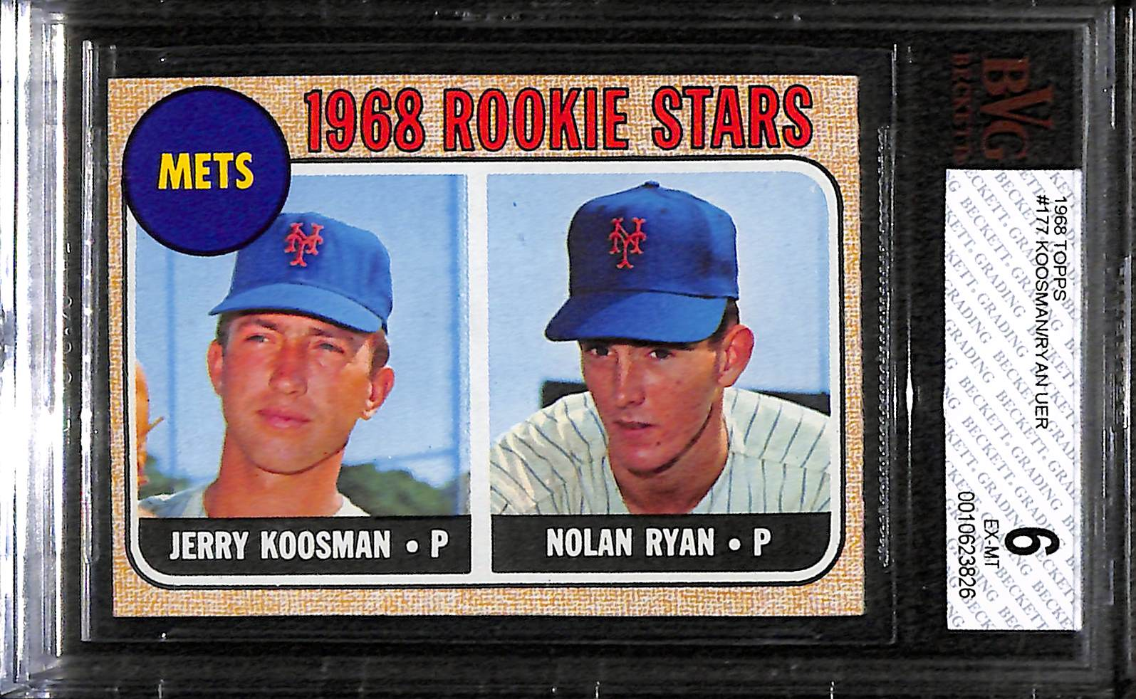 Lot Detail 1968 Topps Nolan Ryan Rookie Card Bvg 6