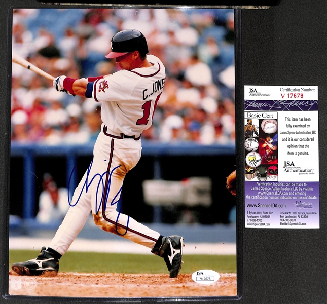 Chipper Jones Signed 8x10 Photo - JSA