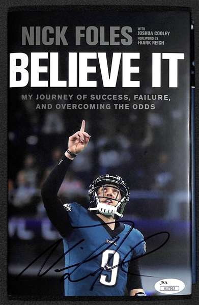 Nick Foles Signed Believe It Book Following the 2018 Super Bowl - JSA