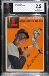 1954 Topps #1 Ted Williams - BVG 2.5