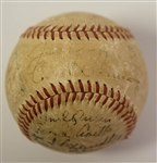 1947 New York Yankees Team Signed Baseball (World Series Champions) w/ 4 HOFers inc. DiMaggio (JSA LOA) - 24 Signatures