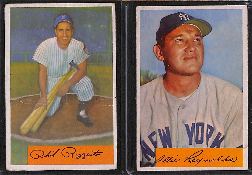 Lot of 20 1954-56 Baseball Cards w. 1954 Bowman Rizzuto