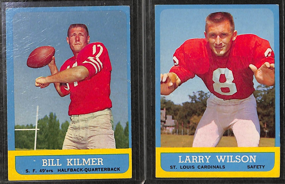 Lot of 11 - 1963 Topps Football Cards w. Fran Tarkenton x2