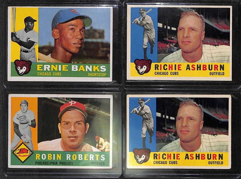 Lot of 400+ 1960 Topps Baseball Cards w. Ernie Banks