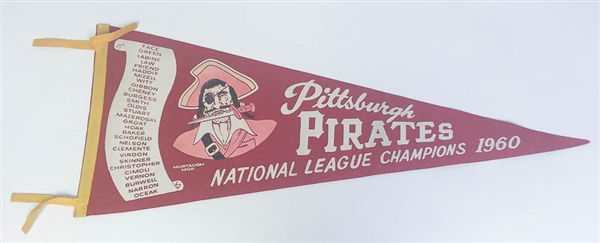 1960 Pittsburgh Pirates National League Champions Pennant