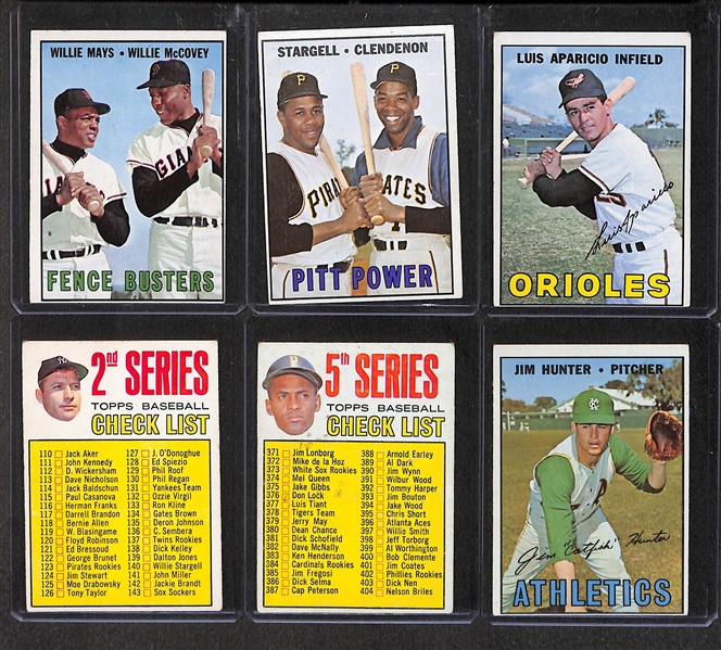 Lot of 400+ 1967 Topps Baseball Cards w. Ford