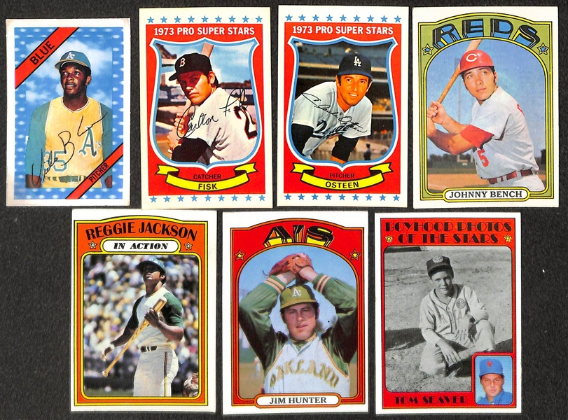 Lot of 150+ 1971 Topps Baseball Cards w. Brooks Robinson & 8 - 1960 Exhibit Cards w. Whitey Ford
