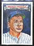 "1967 Topps ""Who Am I?"" Mickey Mantle (#22) Baseball Card (Scratched)"