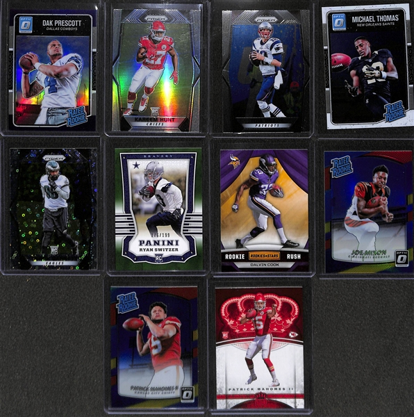 Two 2 Row Boxes Of Football Base & Star Cards