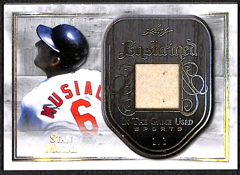 Stan Musial 2018 Leaf In The Game Used #1/1 Jersey Relic Card