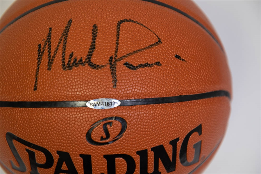 Mark Price Autographed Spalding Indoor Basketball - UDA