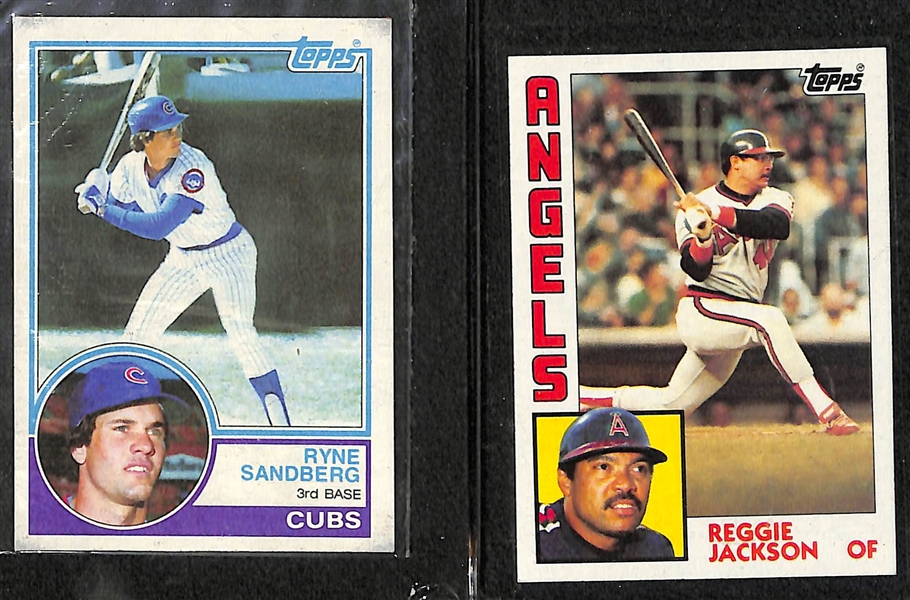 Lot of 3 - Topps Baseball Sets - 1983, 1984, 1985
