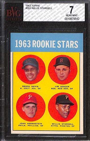 1963 Topps Willie Stargell Rookie Card Graded Beckett BVG 7
