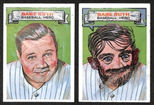 "Lot of (2) 1967 Topps ""Who Am I?"" Babe Ruth Cards (One Scratched and One Partially Scratched)"
