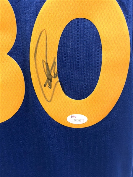 Stephen Curry Signed Golden State Warriors Jersey - JSA LOA
