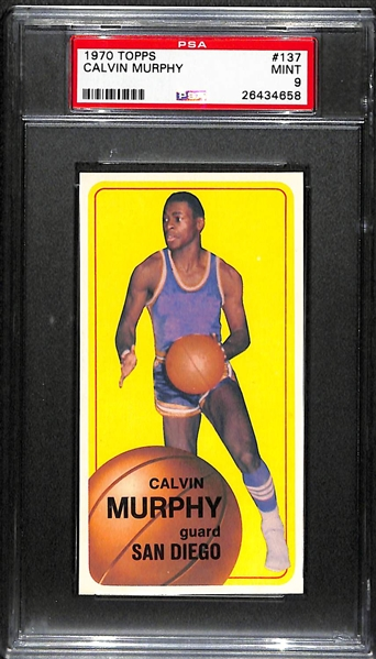 1970 Topps #137 Calvin Murphy Rookie Graded PSA 9 Mint