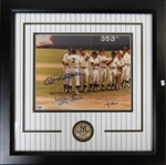 Mantle, Ford, Berra, & Rizzuto Signed/Framed Photo - PSA COA