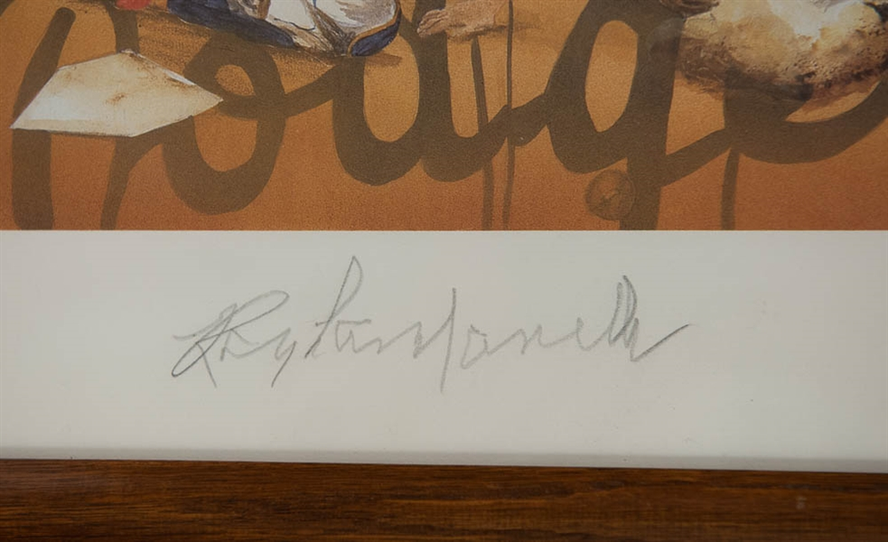 Roy Campanella Signed Artwork Lithograph - JSA COA