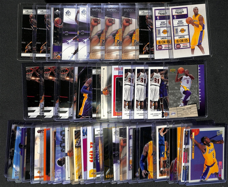 Lot of (50) Kobe Bryant Card w. Rookies & Inserts