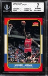 1986-87 Fleer Michael Jordan Rookie Card (#47) - BVG 7