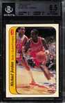 1986-87 Fleer Michael Jordan Rookie Sticker (#8) - BVG 8.5