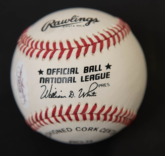 Pete Rose Signed National League Baseball - JSA