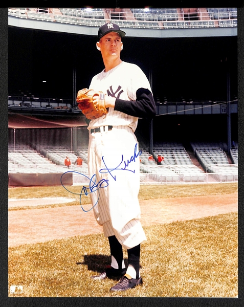 Lot Of 11 Yankees Signed Photos w. Enos Slaughter