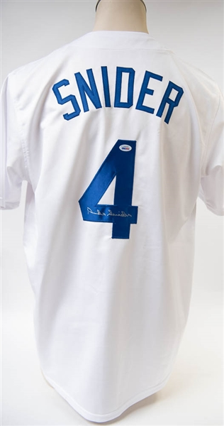 Duke Snider Signed Dodgers Jersey - PSA/DNA
