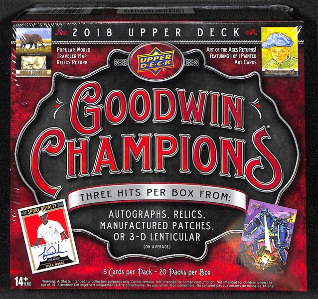 2018 Upper Deck Goodwin Champions Sealed Hobby Box