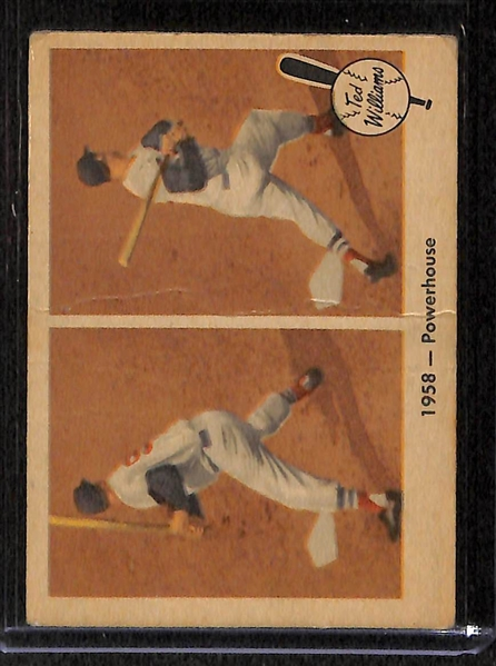 Lot Of 8 1959 Fleer Ted Williams Baseball Cards