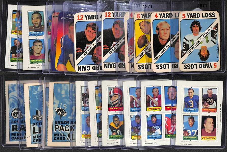 Lot of 20 Topps Football Inserts Cards 1969-1971 w. Namath