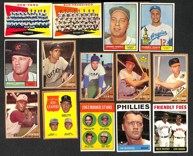 Lot of 440 1960-1969 Topps Baseball Cards w. 1969 Carew
