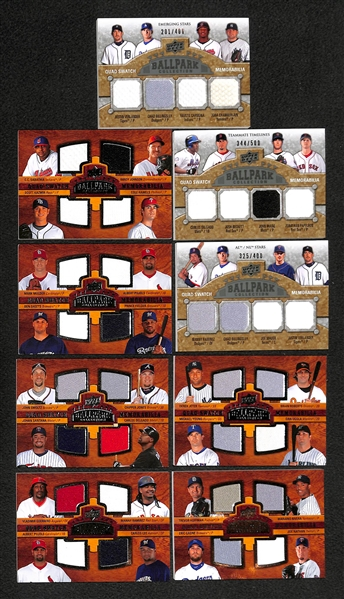 Lot Of 17 Baseball Quad Jersey Cards w. Jeter & Pujols