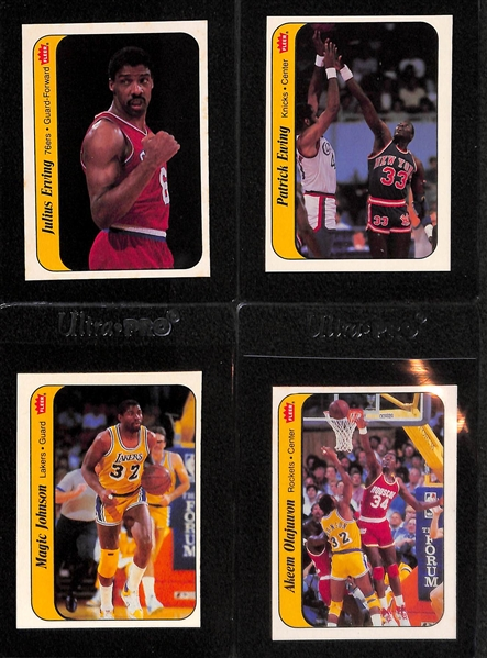 Pack Fresh 1986-87 Fleer Basketball Sticker Set (Missing Jordan) 10 of 11