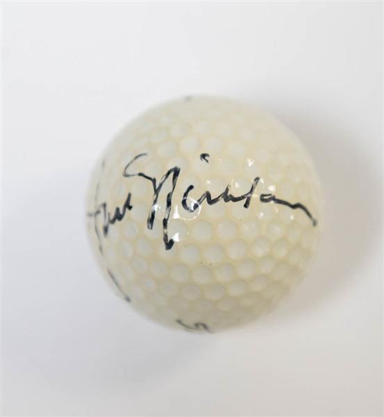 lot detail jack nicklaus signed titleist golf ball jsa loa. Black Bedroom Furniture Sets. Home Design Ideas