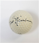 Jack Nicklaus Signed Titleist Golf Ball - JSA LOA