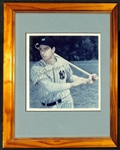 Joe DiMaggio Signed & Framed Photo - JSA LOA