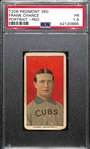 1909-11 T206 Frank Chance (HOF) Portrait-Red, Piedmont 350 Subjects Graded PSA 1.5