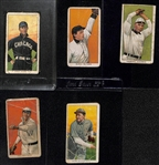 Lot of (5) 1909-11 T206 Tobacco Cards w/ Fielder Jones (Hands on Hips), Slagle, Tannehill, Gray, Geyer