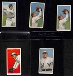 Lot of (5) 1909-11 T206 Tobacco Cards w/ Schlei, (2) Jacklitsch, McCormick, Herzog