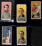 Lot of (5) 1909-11 T206 Tobacco Cards w/ McIntyre, Leach, Lindaman, Starr, Donovan